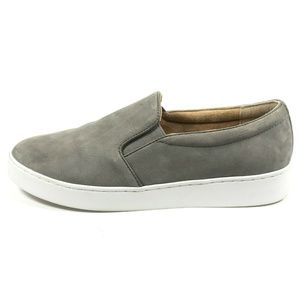 Vionic Midi Gray Leather Slip On Casual Sneakers